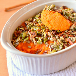 Thumbnail image for Honey Nut and Seed Sweet Potato Casserole