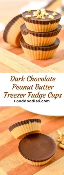 Dark Chocolate Peanut Butter Freezer Fudge Cups