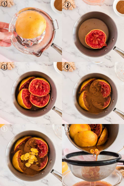Grapefruit Tea Process Shots