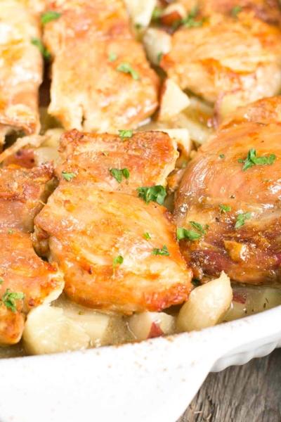 40 Clove of Garlic Chicken