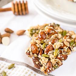 Thumbnail image for Homemade Seedy Almond Honey Kind Bars