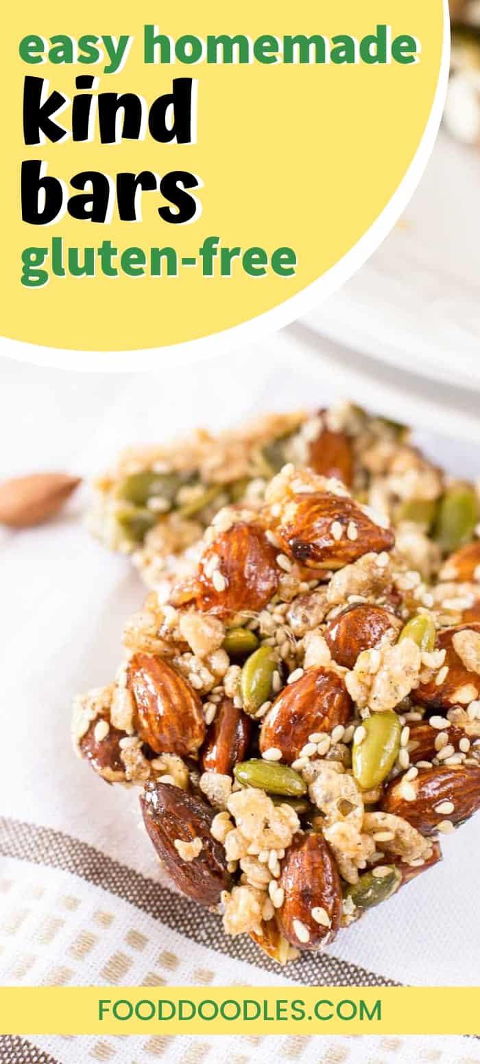 Homemade almond honey kind bars