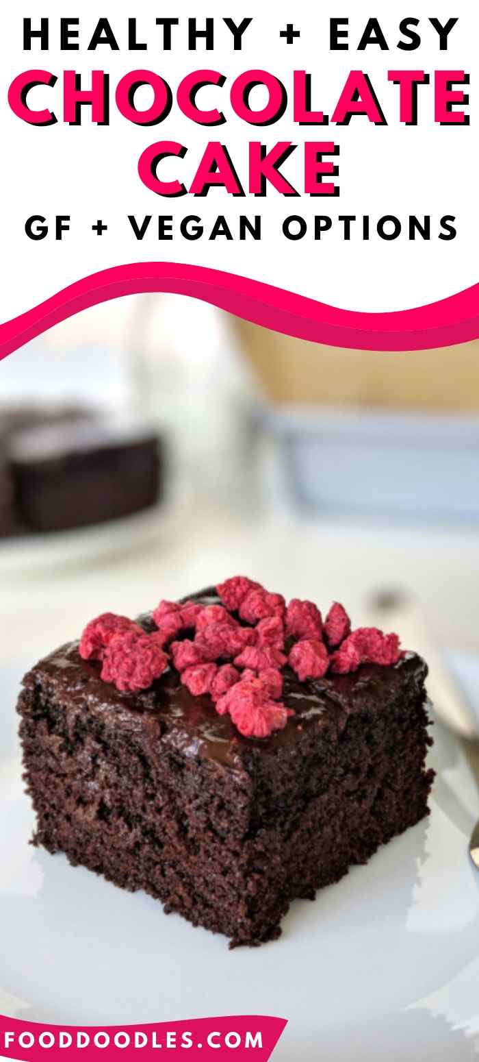 Healthy Chocolate Cake (gluten-free, vegan options)