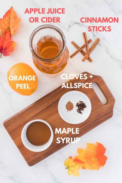 Hot Spiced Apple Cider Ingredients