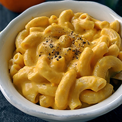 Easy pumpkin mac and cheese. Can be made gluten-free or whole wheat.
