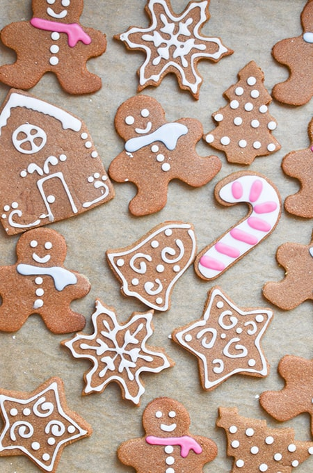 Paleo Vegan Gingerbread Men Cookies