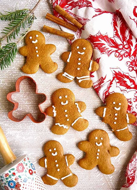 Paleo Almond Flour Gingerbread Men Cookies