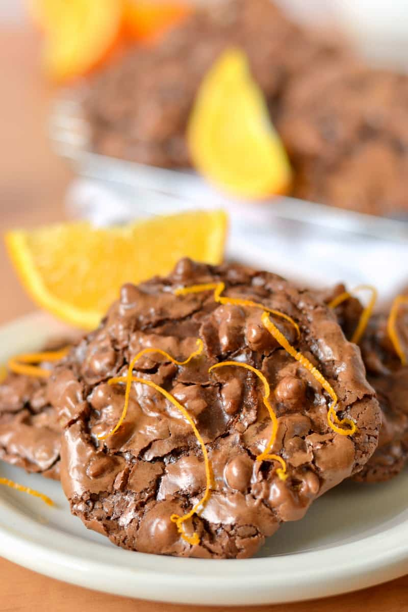 Flourless Chocolate Orange Puddle Cookies