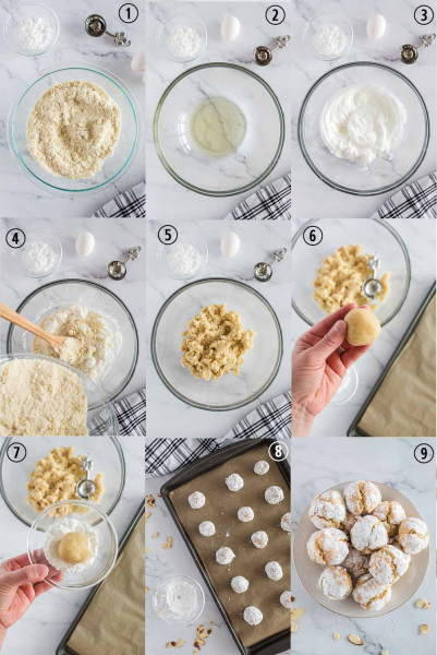 Italian Almond Cookies process shots