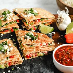 Easy Veggie Quesadillas