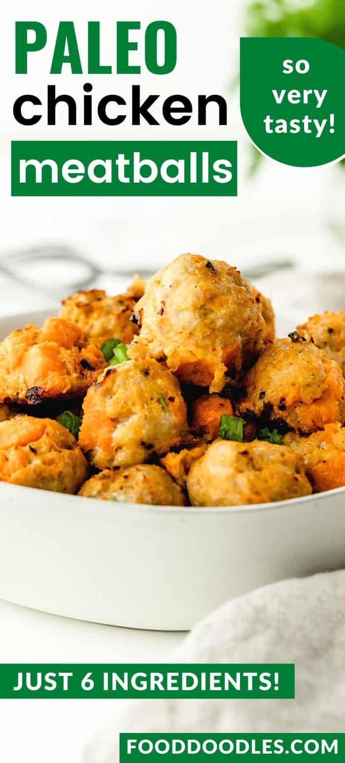 Paleo Chicken Meatballs - so delicious and addictive!