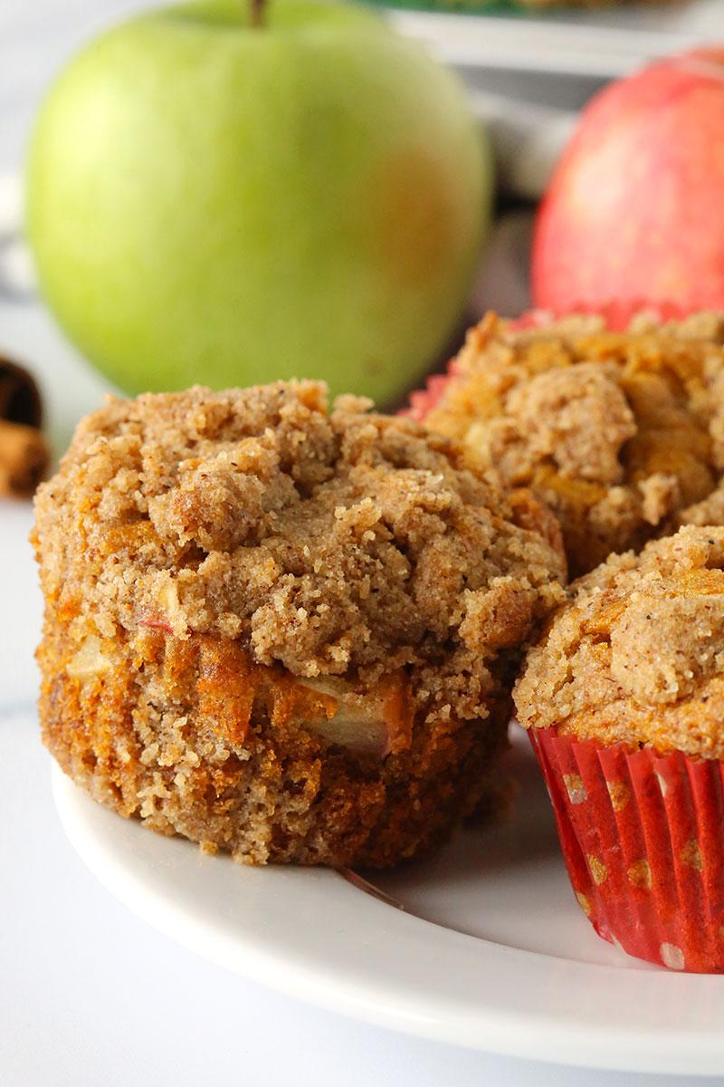 Healthy Cinnamon Apple Muffins (gluten-free, whole wheat options)