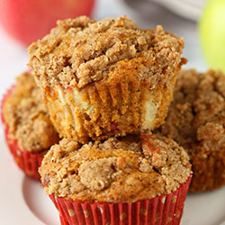 Healthy Cinnamon Apple Muffins (gluten-free option)