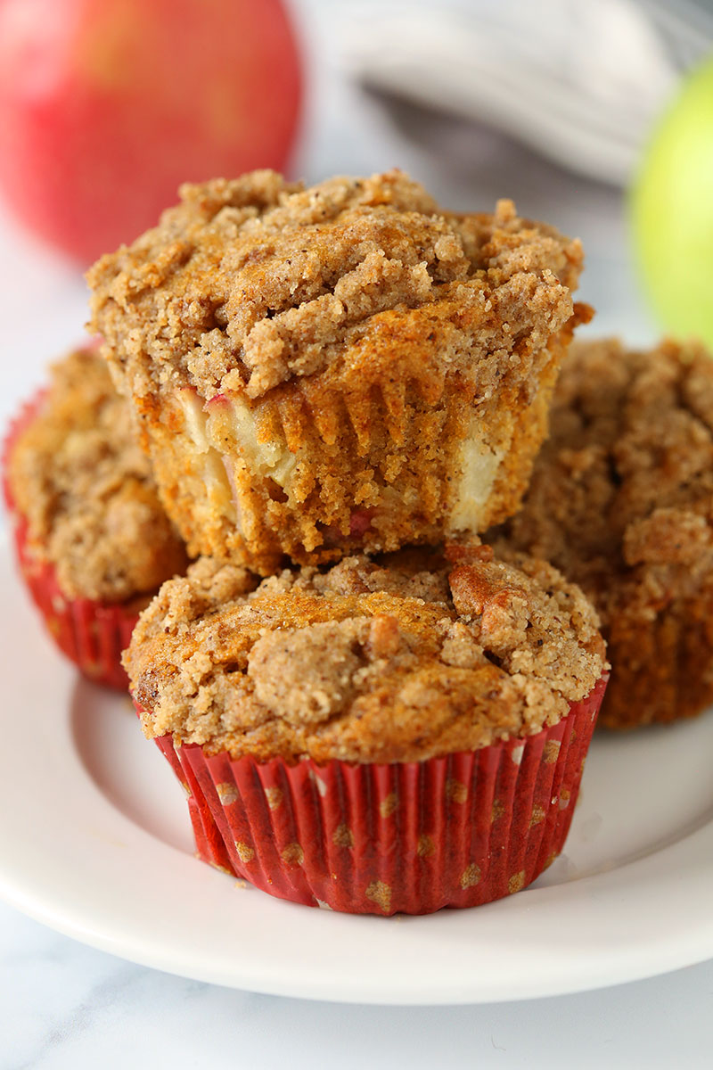 Healthy Cinnamon Apple Muffins (gluten-free option)