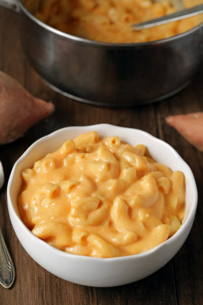Sweet Potato Mac and Cheese (gluten-free option)