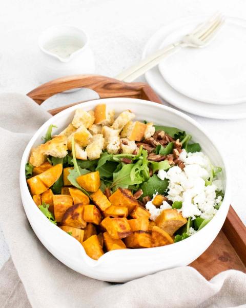 sweet potato goat cheese salad