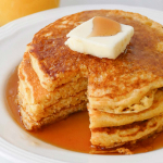 Stack of cornbread pancakes