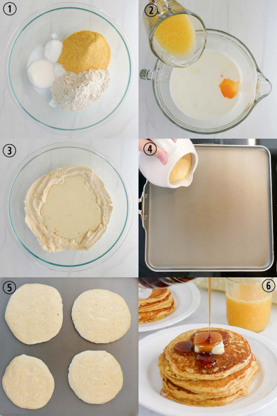 How to make cornbread pancakes