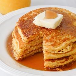 Cornbread pancakes stack