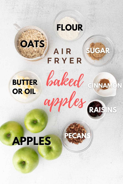 Air Fryer Baked Apples ingredients