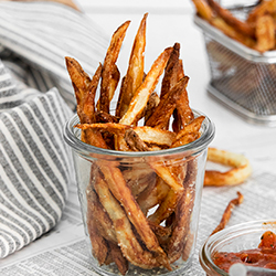 Air Fryer French Fries with Garlic and Parmesan