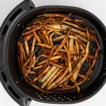 Air Fryer Garlic Fries in basket