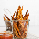 Air Fryer French Fries in glass