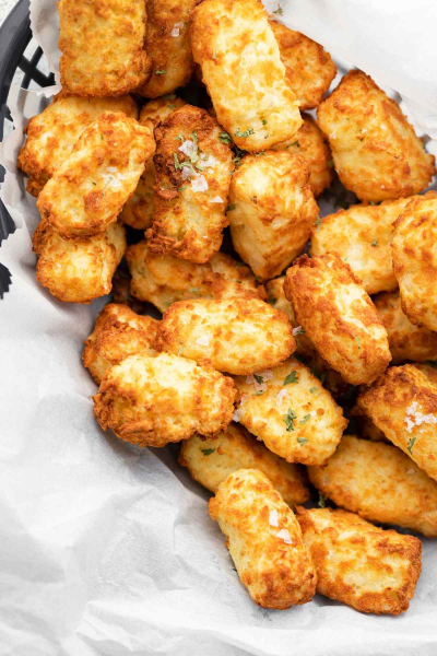 Air fryer tater tots in basket