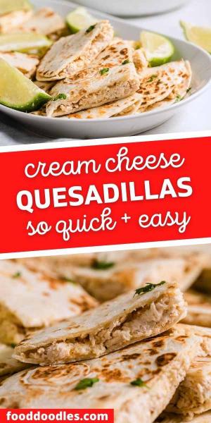 cream cheese quesadillas pin