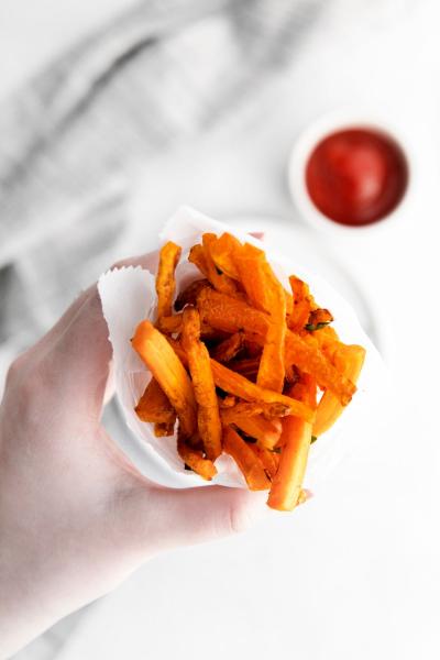 air fryer carrot fries in little bag