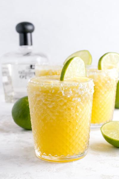 2 glasses of pineapple margarita