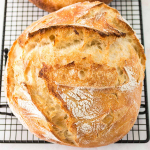 loaf of overnight sourdough