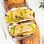 air fryer fish tacos prepared