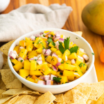 mango habanero salsa with chips