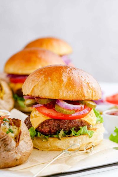 air fryer turkey burgers on buns