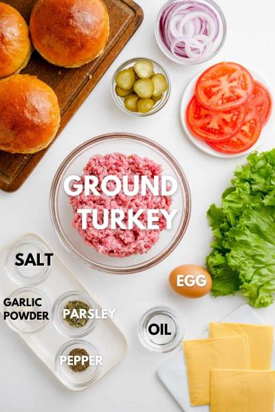 ingredients for air fryer turkey burgers