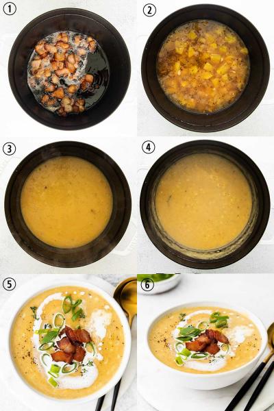 corn chowder step by step photos
