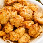 popcorn chicken on plate