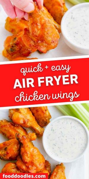 air fryer chicken wings pin