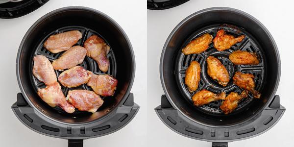 frozen chicken wings in air fryer basket