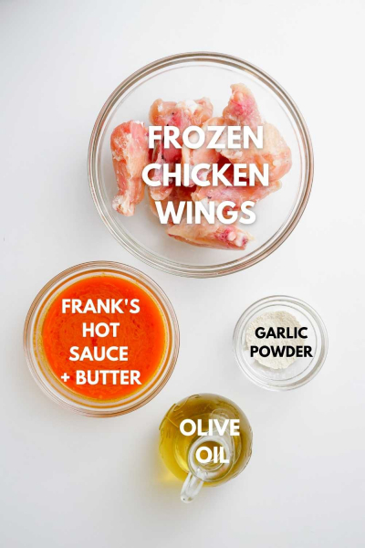 ingredients for frozen air fryer chicken wings