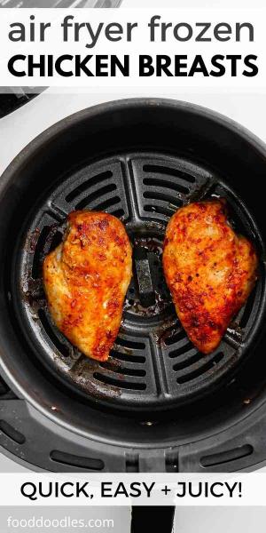air fryer frozen chicken breasts pin 2