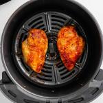 frozen chicken breasts in air fryer basket