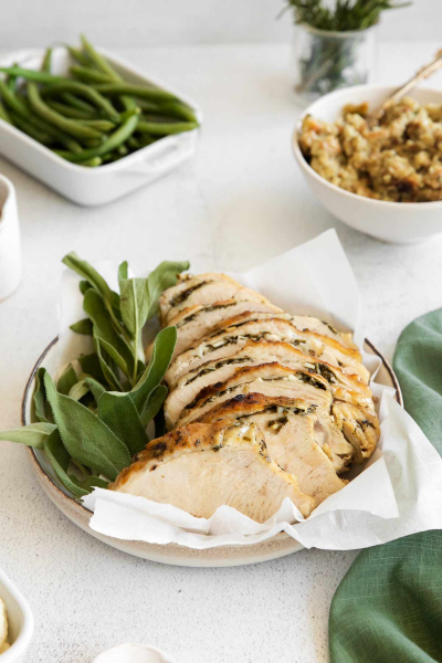 plate of instant pot turkey breast
